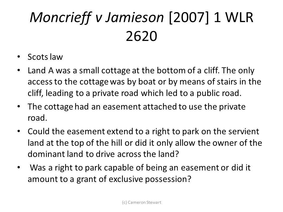 Moncrieff v Jamieson [2007] 1 WLR 2620